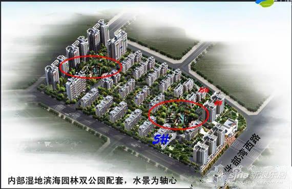 为108亩,总建筑面积为16万平方米.项目分三期开发,一期为靠北部