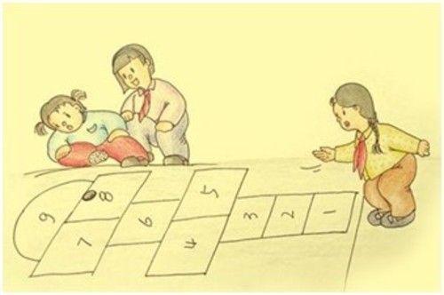 跳格子的游戏 给了童年无尽的乐趣