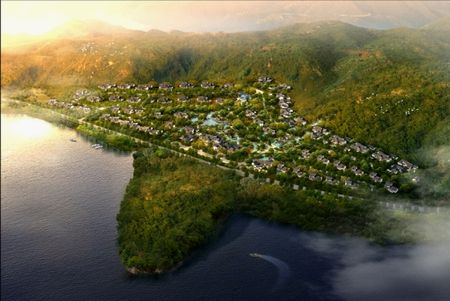 太湖山庄鸟瞰图