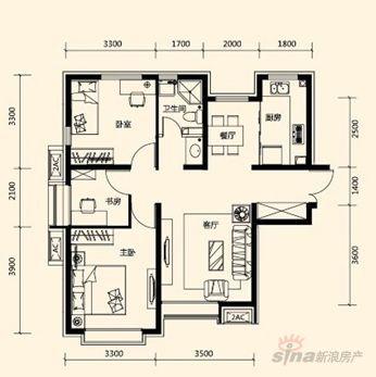 132平米三室两厅设计图展示