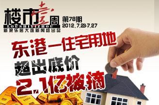 第七十八期 东港地块2.1亿成交