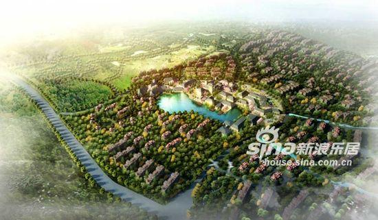图为西柏坡国御温泉度假小镇规划图