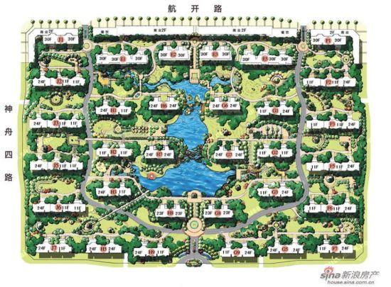 图为富力城规划图