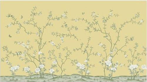 四,碎花手绘壁纸    小编点评:唯美的碎花,形态上演绎低调奢华的