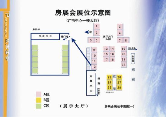 房展会展位平面图
