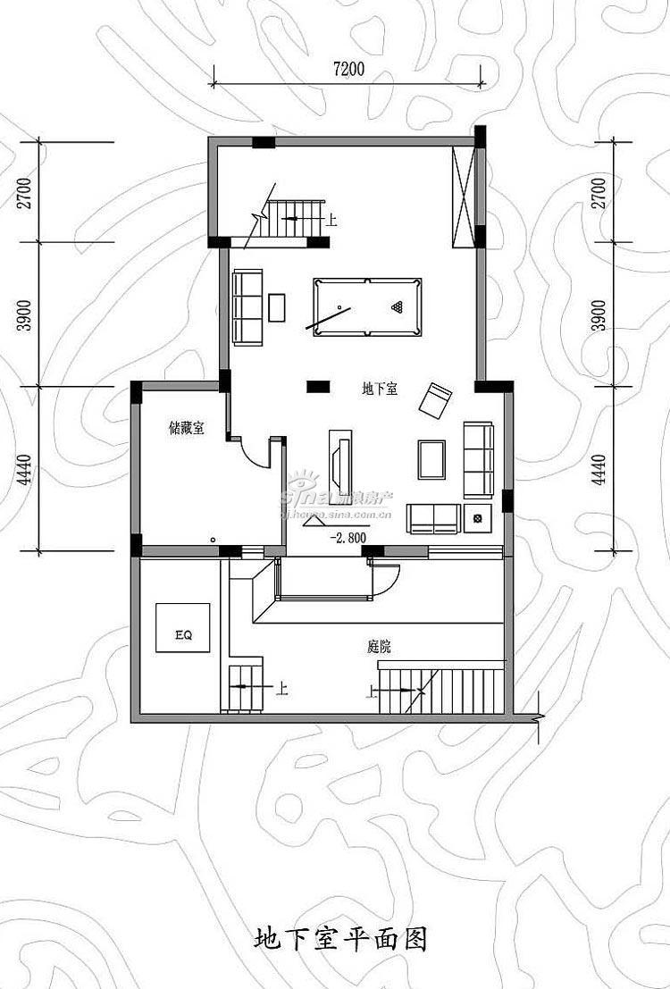 和安花園達觀別墅 戶型展示 h2戶型地下室平面