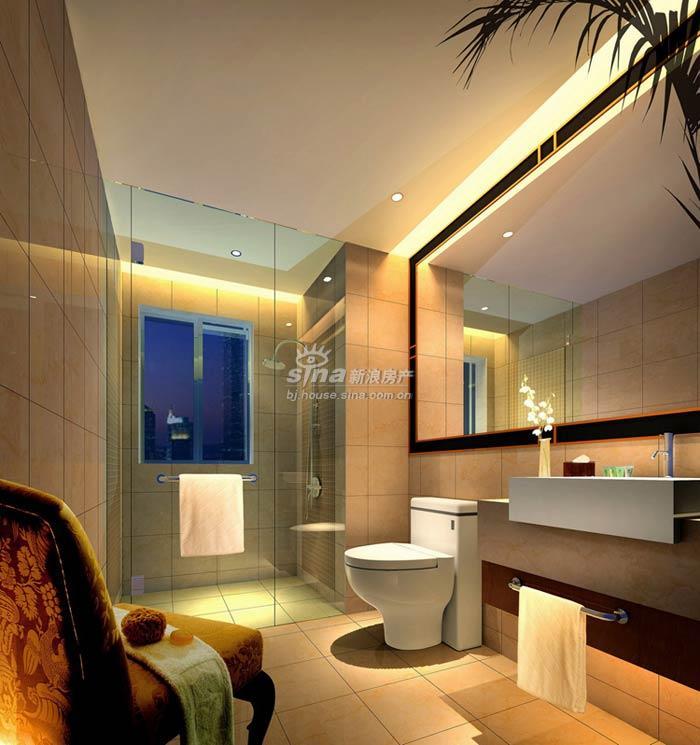 复地国际公寓 样板间展示 c户型卫生间效果图