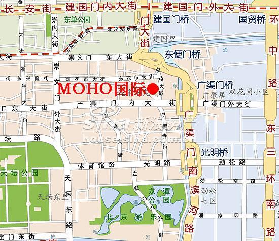 MOHO国际 交通图 位置图