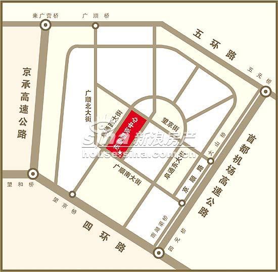 东亚・望京中心 交通图 地图