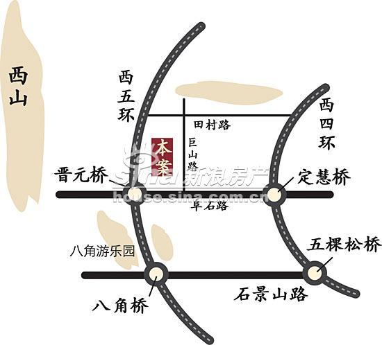 西山洋房 交通图 位置图