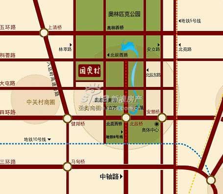 国奥村 交通图 地图