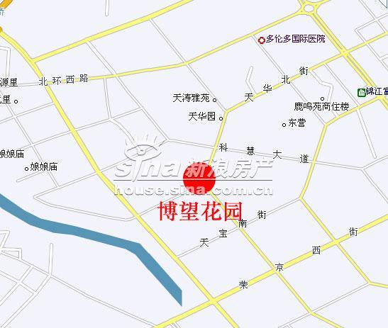 博望花园 交通图 位置图