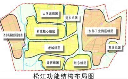 松江功能结构布局图