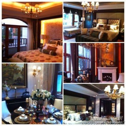 别墅挑高客厅装修实景图欧式