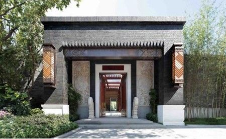 幼儿园中国风手工古建筑