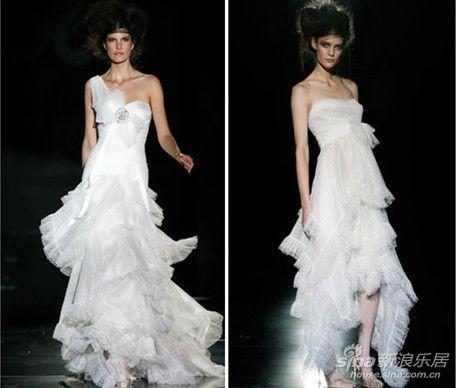 美女模特婚纱秀