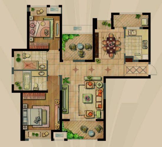 114平方房子设计图