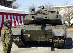 日本展示国产新型坦克样车比90式轻6吨(图)