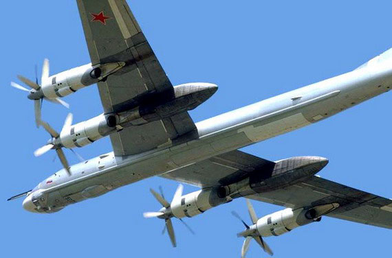 Russian Tu-95 strategic bombers.