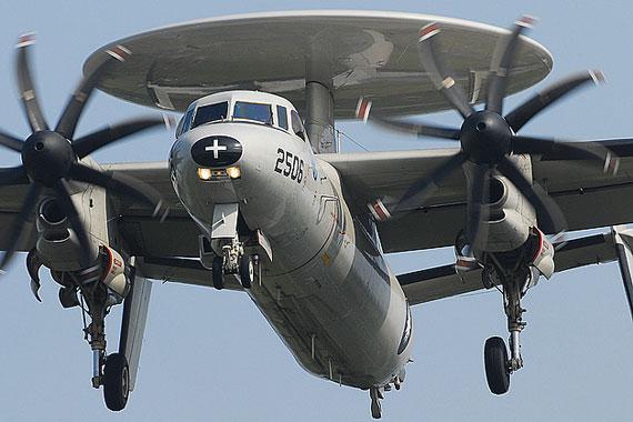 资料图:台军E-2C鹰眼预警机