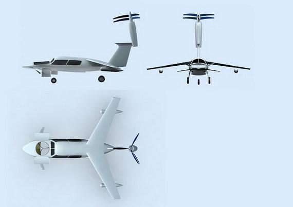 水陆空三栖型垂直起落式小型亚音速飞机
