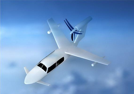 巡航飞行状态立体图。