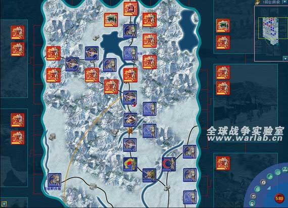 电子兵棋《长津湖》截图。