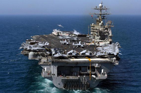 资料图:美国海军拥有12艘航空母舰