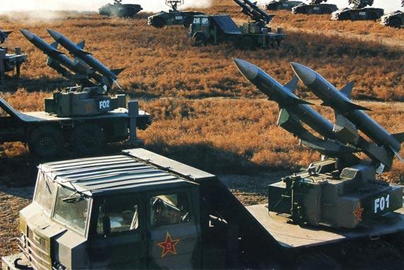 解放军最早装备的红旗-61型防空导弹系统
