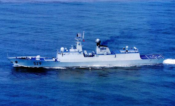 国产最新型054A升级型新型护卫舰529号