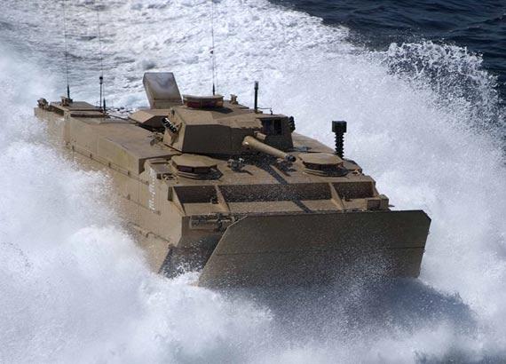 美制EFV远征战车只装备了30毫米机炮