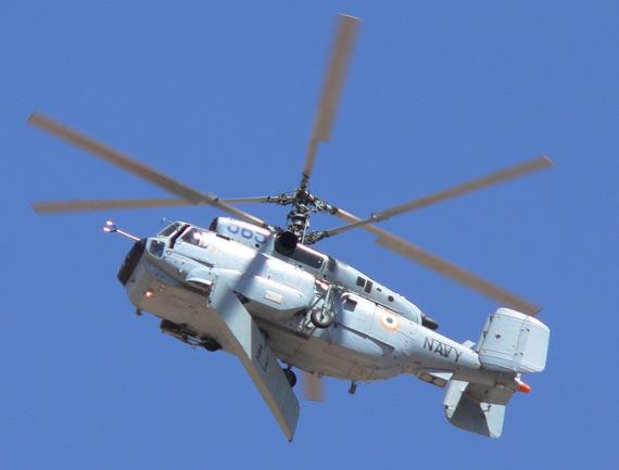 资料图:印度海军装备的俄制卡-31舰载预警直升机