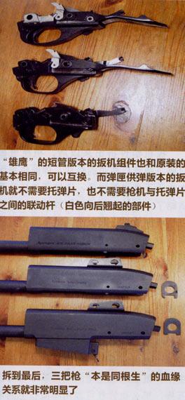 三款枪的板机组基本相同