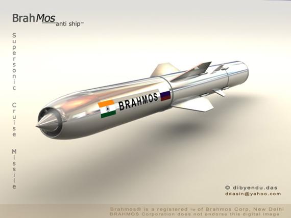资料图:印度与俄罗斯联合研制的布拉莫斯型巡航导弹