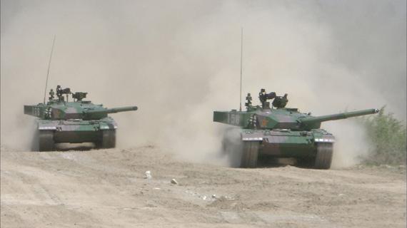 资料图:中国新型99改主战坦克,该型坦克早期型曾被称为98式