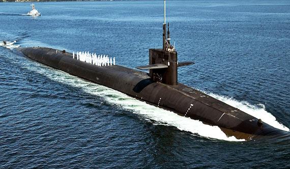 资料图:美国海军俄亥俄级战略核潜艇SSBN-735号