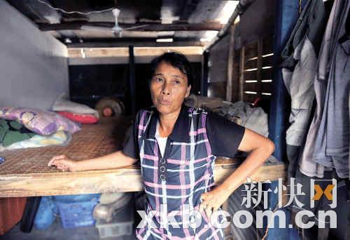 永兴岛上的渔民官合凤告诉记者鱼越来越少了。王小明/摄