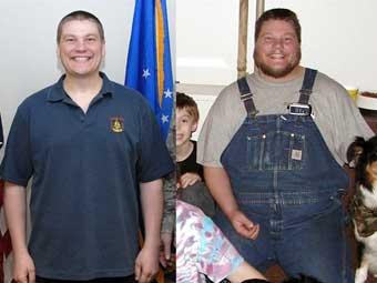 减肥前后的德里克・贝尔