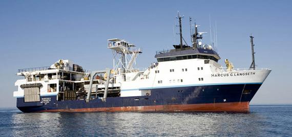 """资料图:美国""""马库斯・朗塞特""""号(R/VMarcusG.Langseth)海洋考察船"""