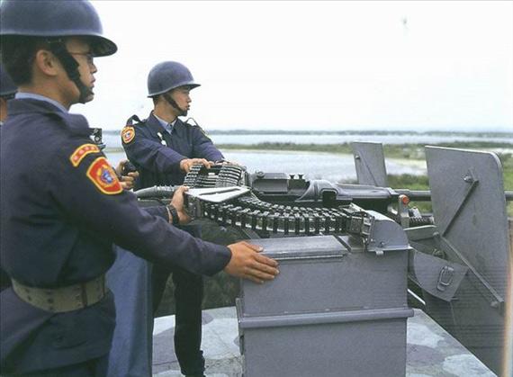 资料图:东沙群岛上的台湾守军
