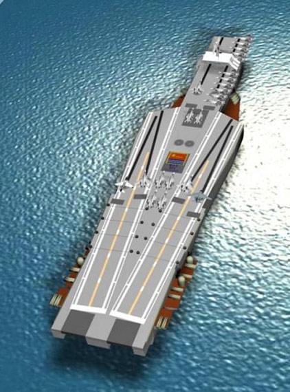资料图:网友设计的中国海军航母想象图