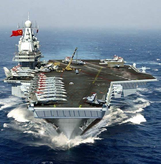 资料图:中国海军未来航母想像图