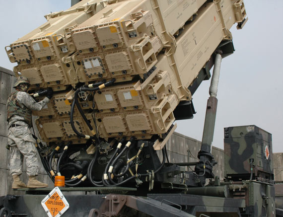 Data graph: U.S. troops deployed Patriot -3 missile 