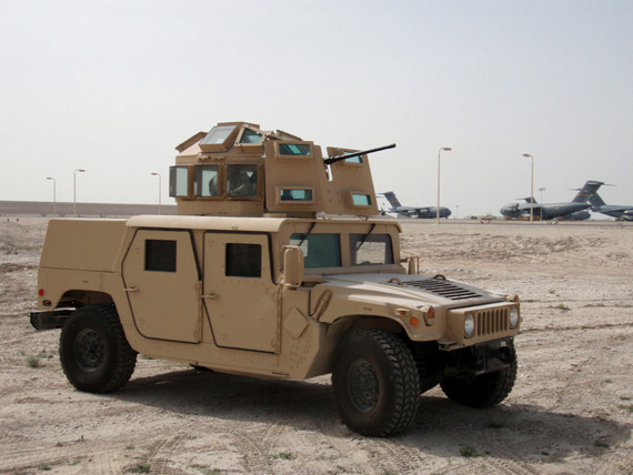 资料图:美军城市战型悍马轻型装甲车