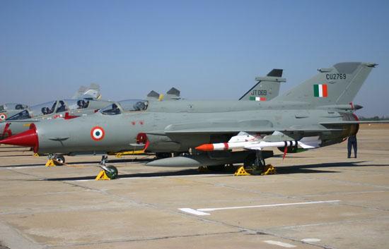 资料图:印度空军列装的俄制米格-21型战机