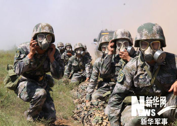 preparations for the troops with anti-chemical warfare unit Bridge camouflage Liufeng An intake