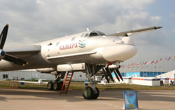 Data for: Russian figure-95MS strategic bombers Tu-95 family is the most advanced model