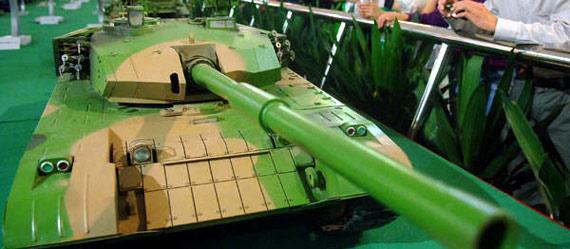 军事博物馆展出的99式坦克模型