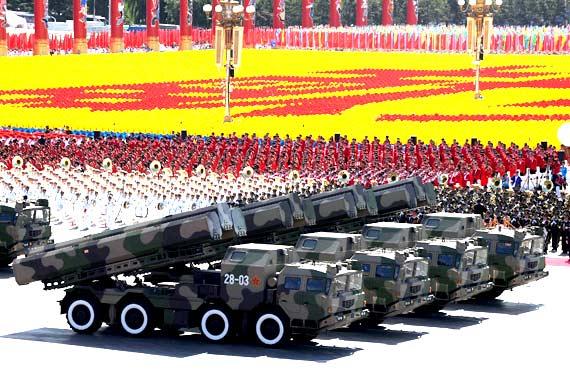 第二炮兵的陆基巡航导弹方队在国庆大阅兵上接受检阅郭大岳摄