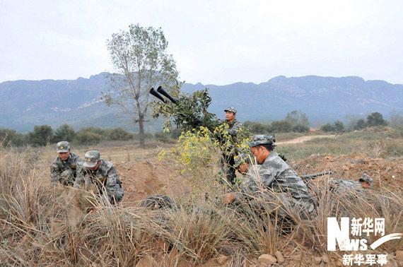 对高炮进行伪装。新华军事记者黄书波摄